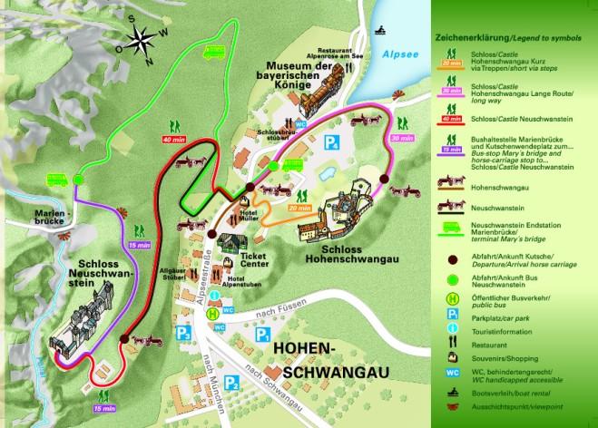 Mapa Schwangau