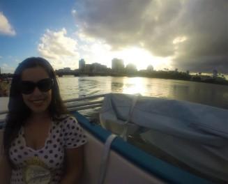Pôr do Sol no catamarã