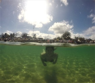 Momento sereia na Praia de Gaibú