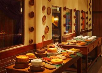 Buffet de sobremesas (Crédito: Parraxaxá - Cozinha típica nordestina)
