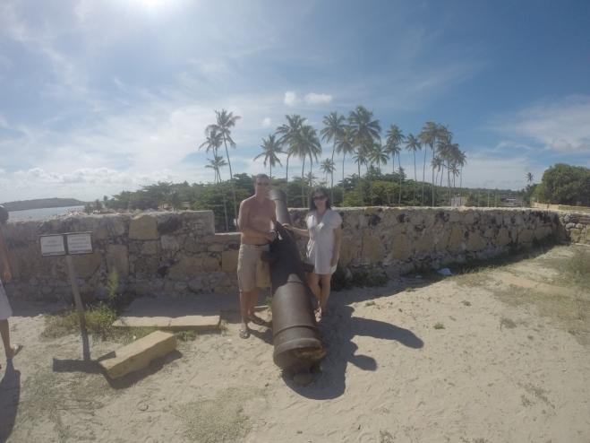 Um dos canhões do Forte